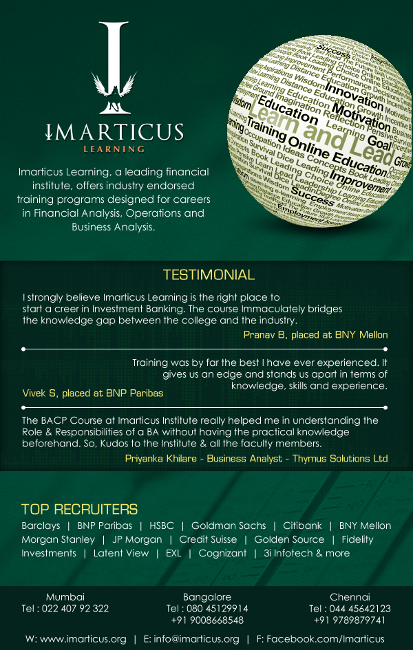 Business analysis training – Imarticus Learning